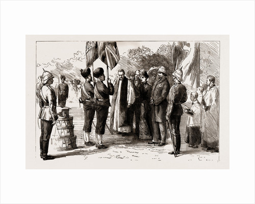 Lady Dufferin Presenting New Colours To The 18th Bengal Infantry At Alipur, 1886 by Anonymous