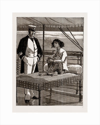 The Only Lady Patient On Board The Hospital Ship Rangoon, On The Irrawaddy, 1886 by Anonymous