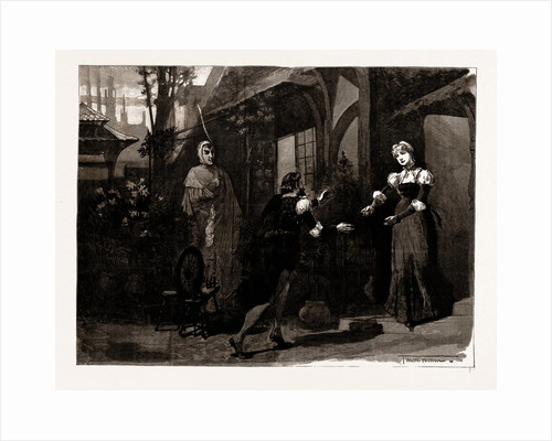 Faust, At The Lyceum Theatre, Mephistopheles (Mr. Irving): Pretty To See Young Lovers Play With Crime. Act Ii., Scene 6, London, UK, 1886 by Anonymous
