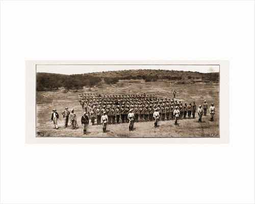 The Latest Rising In South Africa: Parade Of The Diamond Fields Horse At Pokwani, 1897 by Anonymous