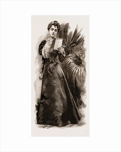 A Stylish Black Satin Dress, Fashion, 1897 by Anonymous