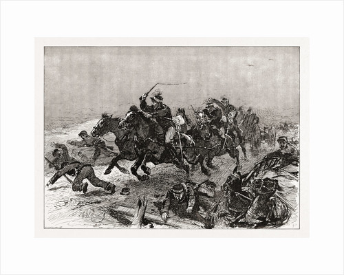 The Greek Rout: An Incident Of The Stampede On The Road To Larissa, Greece, 1897 by Anonymous