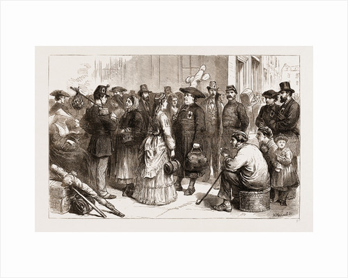 Pilgrimages In France-departure From A Provincial Station Of Sacred Heart Pilgrims For Lourdes, 1873 by Anonymous