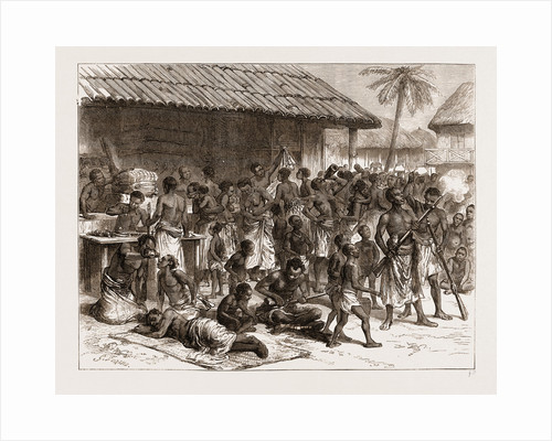 Ashantees Buying Muskets With Gold Dust At Assinee by Anonymous