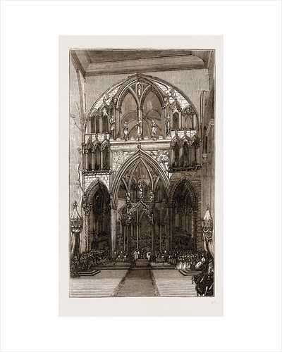 Interior Of Drontheim Cathedral-the Coronation, Norway Engraving 1873 by Anonymous