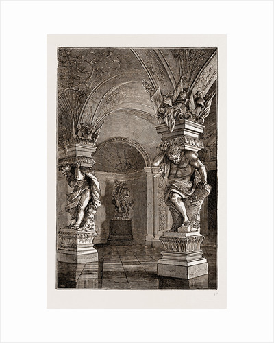 Belvedere Gallery, Vienna Engraving 1873 by Anonymous