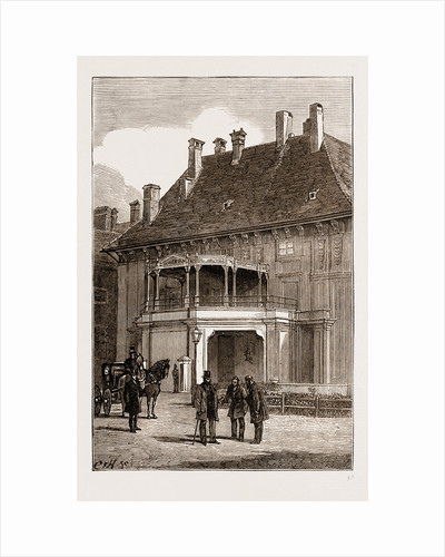 Private Entrance To The Emperor's Palace, Vienna Engraving 1873 by Anonymous