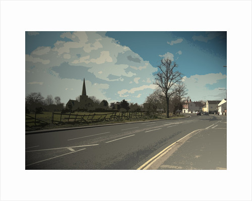 Church and Main Road in Sawley by Sarah Smith