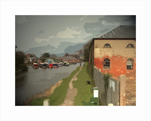 Warehouse and Barges on the Trent and The Derwent Valley Heritage Way by Sarah Smith