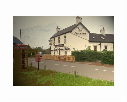 The Black Cow Public House in Lees by Sarah Smith