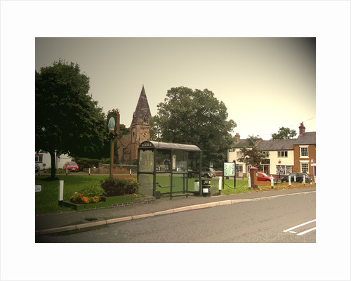 Church and Village Green in Findern by Sarah Smith