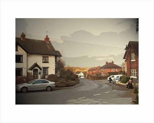 Village Scene in West Hallam by Sarah Smith