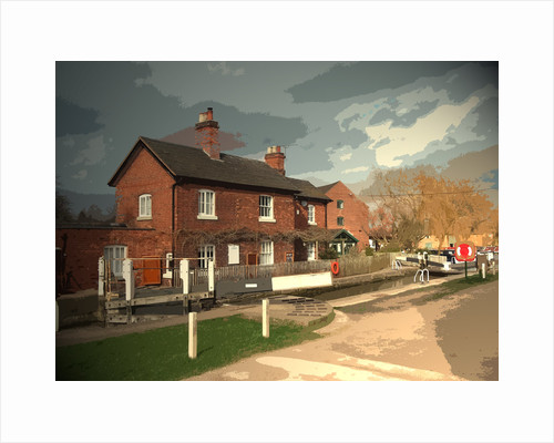 Cottage and Lock in Shardlow by Sarah Smith