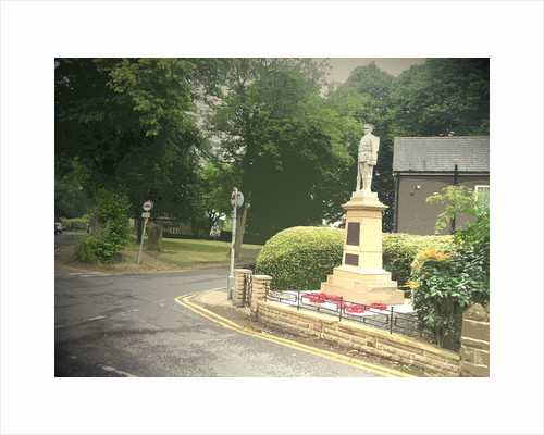 War Memorial and Village Green in Dore by Sarah Smith