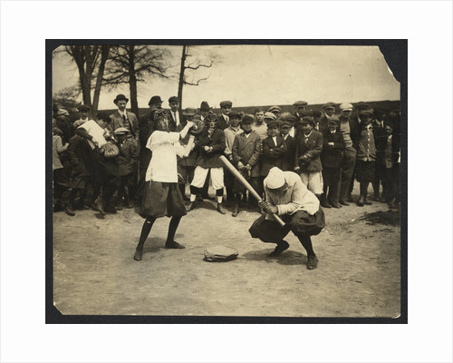 New York female Giants - Miss McCullum catcher and Miss Ryan at bat, USA by Anonymous