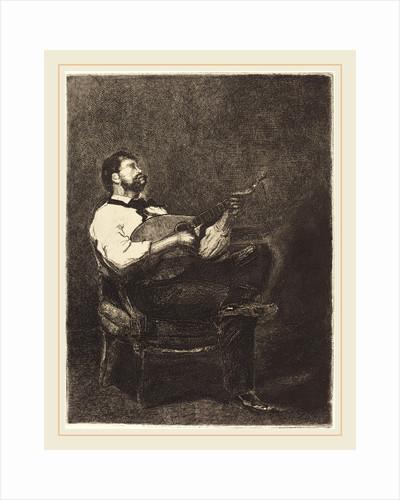 Guitar Player (Joueur de Guitare), 1861 by François Bonvin