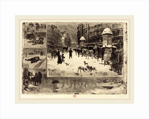 L'Hiver à Paris (Winter in Paris), 1879 by Félix-Hilaire Buhot