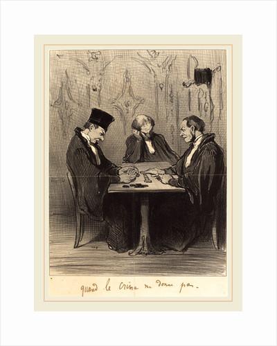 Quand le crime ne donne pas, 1848 by Honoré Daumier