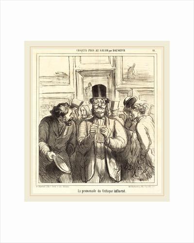 La promenade du Critique influent by Honoré Daumier
