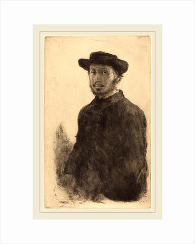 Self-Portrait (Edgar Degas, par lui-même), probably 1857 by Edgar Degas