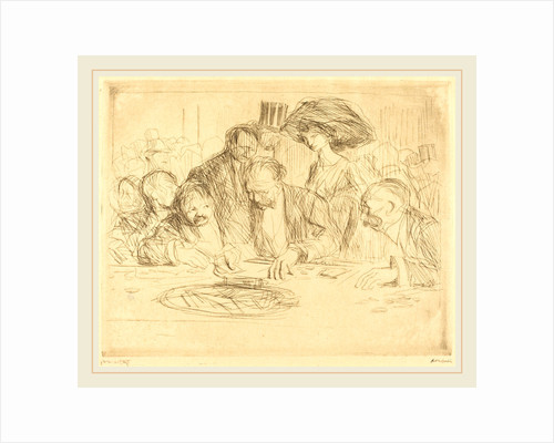 At the Gambling Table (second plate) by Jean-Louis Forain