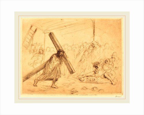 Christ Carrying the Cross (fourth plate) by Jean-Louis Forain