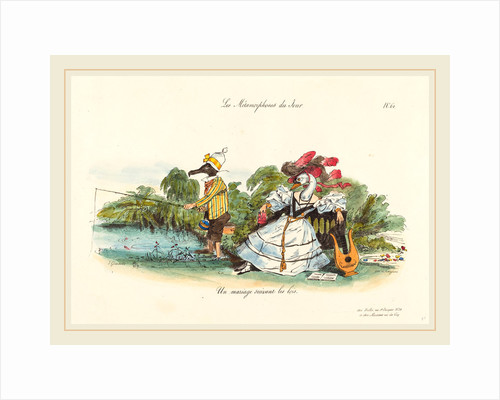 Metamorphoses of the Day: A Conventional Marriage, 1829 by Jean-Ignace-Isidore Grandville