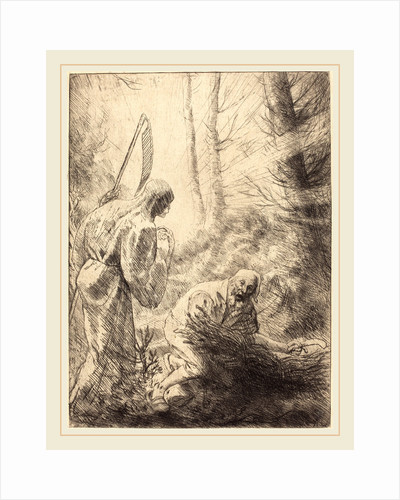 Death and the Woodcutter, 2nd plate by Alphonse Legros