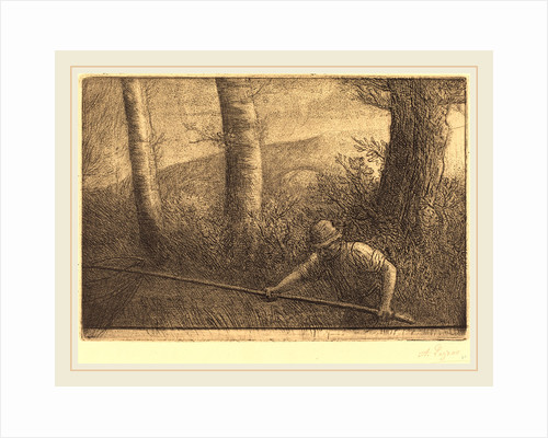 Fisherman with a Hoop-net by Alphonse Legros