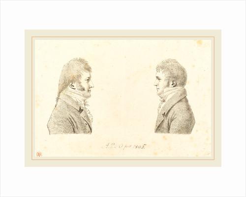 duc de Montpensier, Self-Portrait and the Artist's Brother, 1805 by Antoine Marie Philippe Louis d' Orléans