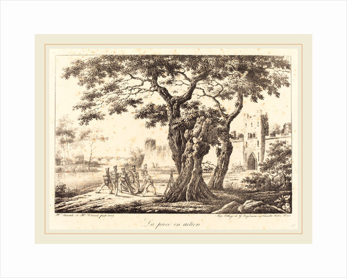La piece en action, 1817 by Horace Vernet