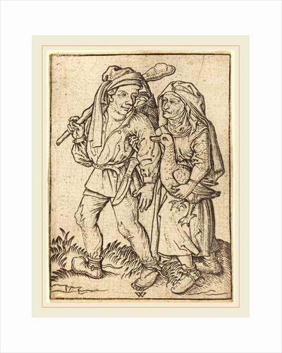 Farmer and Wife with Goose, c. 1490 by Wenzel von Olmutz