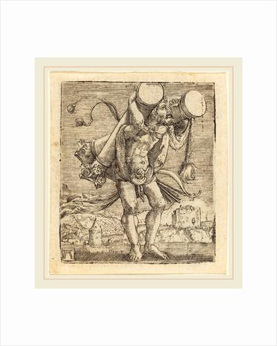 Hercules Bearing the Column of Gades by Albrecht Altdorfer