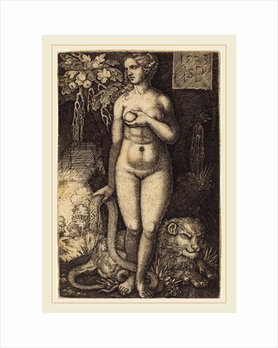 Eve Standing, 1523 by Sebald Beham