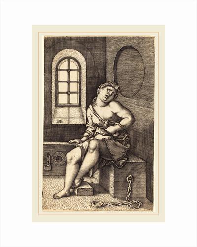 Cleopatra Seated by Sebald Beham