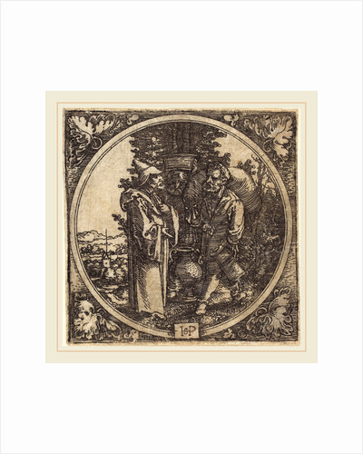 Gentleman and Two Servants, or Solon and Two Peasants by Sebald Beham