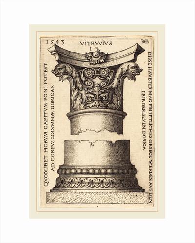 Capital and Base of a Column, 1543 by Sebald Beham