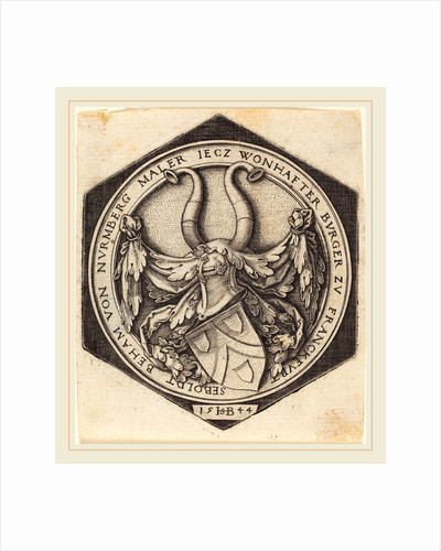 Coat of Arms of H.S. Beham, 1544 by Sebald Beham