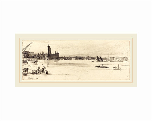 Old Westminster Bridge, 1859 by James McNeill Whistler