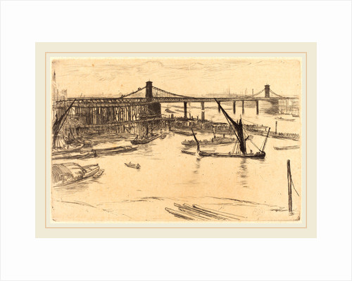 Old Hungerford Bridge, 1861 by James McNeill Whistler
