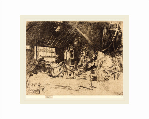 The Smithy, c. 1880 by James McNeill Whistler