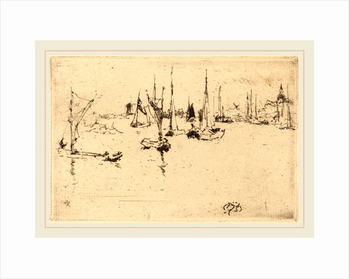 Boats, Dordrecht, 1884 by James McNeill Whistler