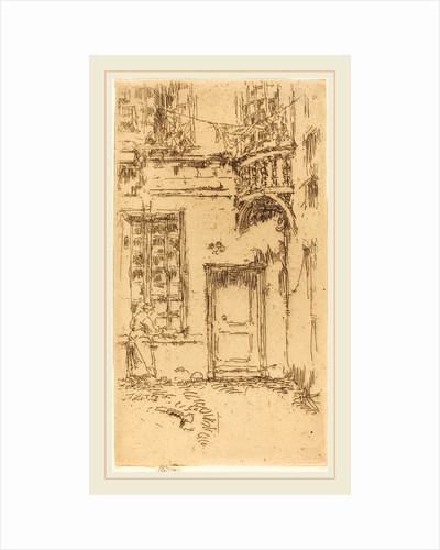 Courtyard, Rue P.L. Courier, 1888 by James McNeill Whistler