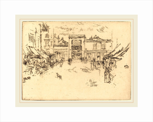 Little Market Place, Tours, 1888 by James McNeill Whistler