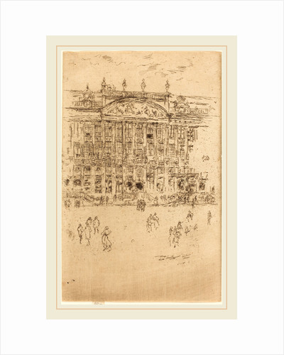 Grand' Place, Brussels, 1887 by James McNeill Whistler