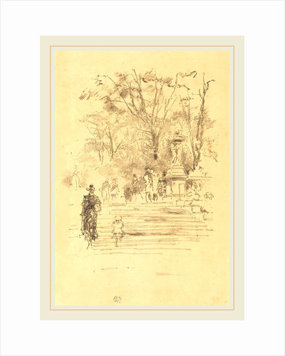 The Steps, Luxembourg Gardens, 1893 by James McNeill Whistler