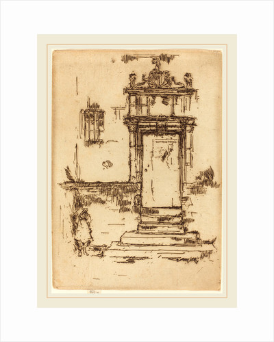 Chapel Doorway, Montresor, 1888 by James McNeill Whistler