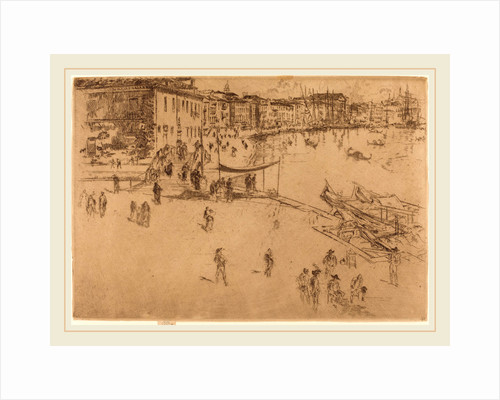 The Riva, No.II, 1880 by James McNeill Whistler