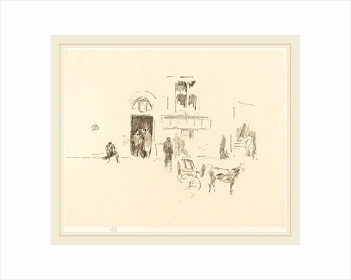 Gaiety Stage Door, 1879 by James McNeill Whistler
