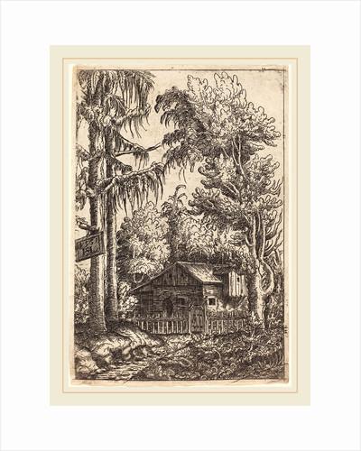 Landscape with View of a Farmer's Cottage, 1551 by Hans Sebald Lautensack
